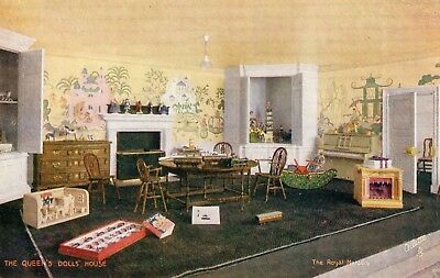The Queen's Doll's House The Royal Nursery Tuck Oilette Postcard 4504