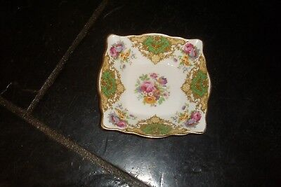 Pretty Vintage Floral Fine Bone China Tuscan 'Provence' Jam/Butter Dish-High Tea