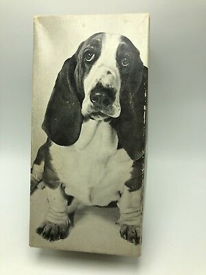 Vintage Hush Puppies Wolverine Shoe Box Dog Bassett Hound Prop Display