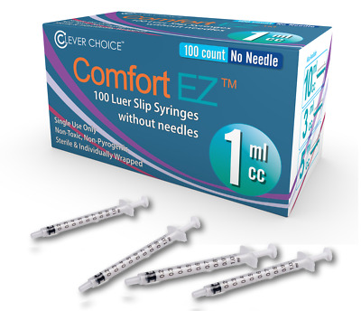 30 count 1cc/ml syringes sterile + 31g short tips (Free ship!)