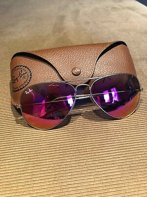 21f408e89c7 RAY-BAN RB3025 112 4T Aviator Gold Frame   Cyclamen Flash Lens 58mm ...