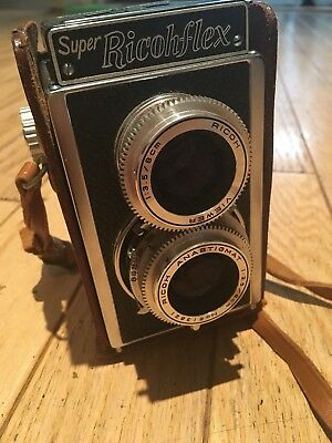 Super Ricohflex Film Camera Ricoh 1:3.5/8cm Anastigmat Riken Twin Lens Japan