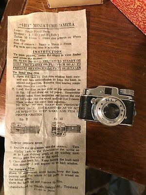 Miniature spy camera by HIT / Japan - includes original instructions AND BOX