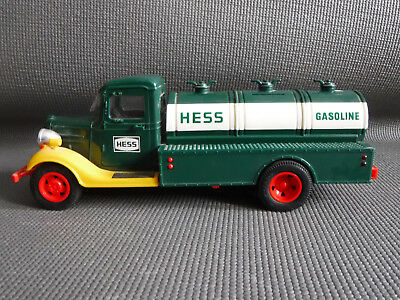 Vintage 1980's HESS TRUCK Gasoline Tanker Truck Toy Coin Bank