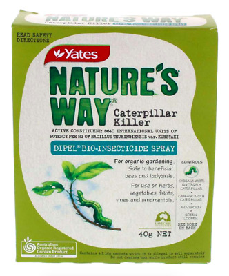 Natures Way Caterpillar Killer Dipel Concentrate Safe to Bees and Ladybirds 40g