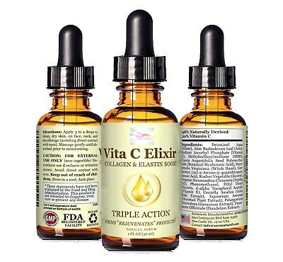 20% Vitamin C and Hyaluronic Acid – Organic Face and Neck Serum for Aging Skin