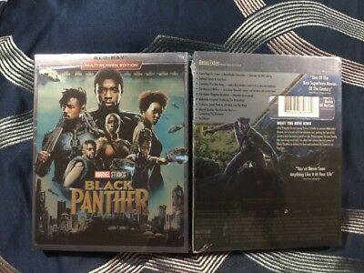 Black Panther w/Slipcover (Blu-ray, Multi-screen Edition NEW