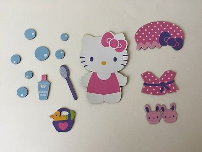 Sanrio Hello Kitty Bath Time Bubble Bath Magnets Pink Purple Blue 14 Pieces Used
