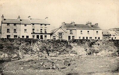 KINTONS HOTEL ROUNDSTONE GALWAY IRELAND POSTCARD by M S WALSH of TUAM SENT 1909