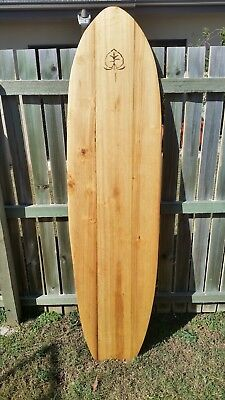 alaia surfboard 6'6 hand made from local paulownia. Perfectly imperfect.