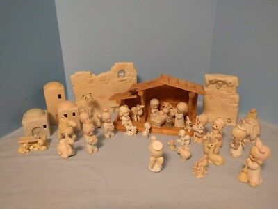 Precious Moments Mini Nativity Set, 36 Pieces, Most with their Boxes