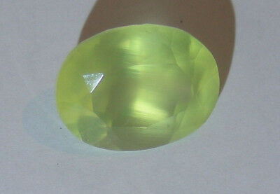 """"""" SPECIAL """" Australian Natural Faceted Large Prehnite  8.7 ct Gemstone"""