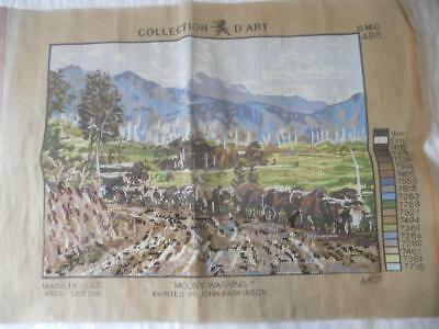 Sml Amt Worked Vintage Collection D Art Tapestry Canvas Mount Warning Parkinson