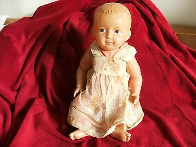 Antique Celluloid Doll 13in