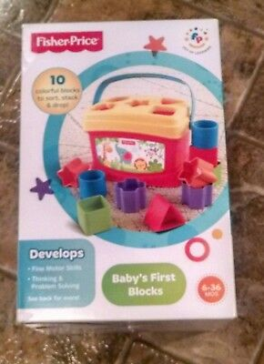 Fisher-Price Baby's First Blocks Shape Sorter Baby Toy, New