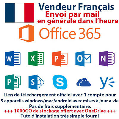 Office 365 en FRANCAIS pour 5 appareils windows mac android ...