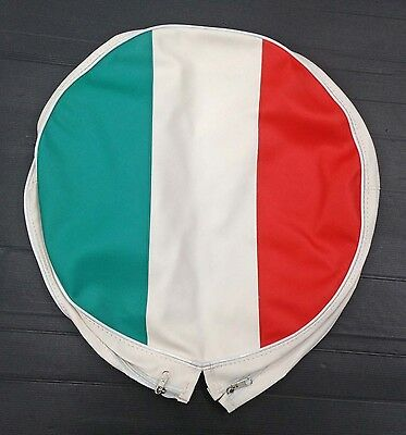 "Spare wheel cover 10"" Italy flag for Vespa LML & Lambretta"