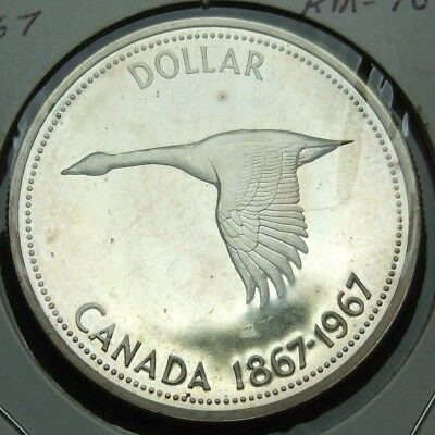 Canada Silver Dollar 1867 - 1967 GOOSE Proof Like Coin