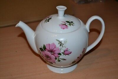 Vintage Shelley Fine Bone China Teapot with Pink Roses - #BH