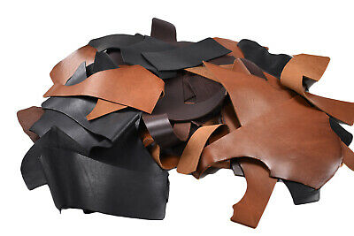 Veg tan Leather pieces - Tooling/Stamping Vegetable tanned scrap | 1 KG BAG