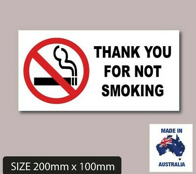Thank You  for not  smoking No Smoking Sticker Signs popular