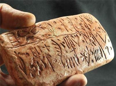 EARLY MINOAN TABLET Proto-Greek Pictographic Knossos 1400 BC ancient replica