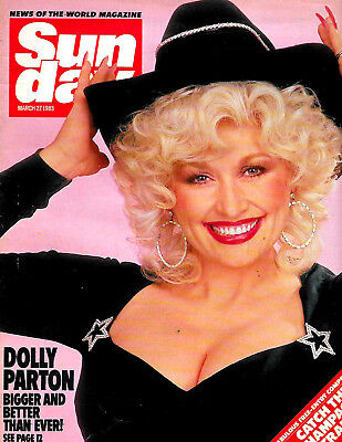 DOLLY PARTON COVER + 2 pages 1983 SUNDAY NOTW MAGAZINE Kenny Dalglish centrefold