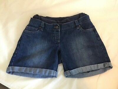 Jojo Maman Bebe denim maternity shorts 12 blue good used condition