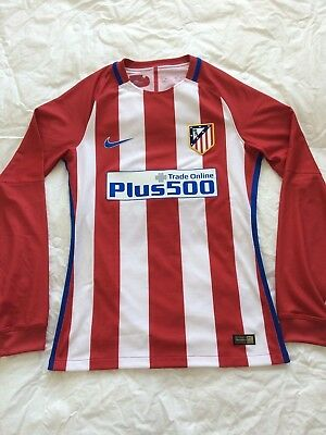 Nike 16-17 Atletico Madrid player issue long sleeve home shirt