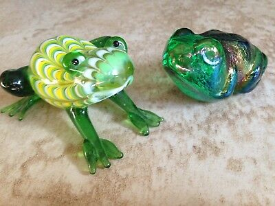 Two Art Glass Frogs 1 Is By Robert Held