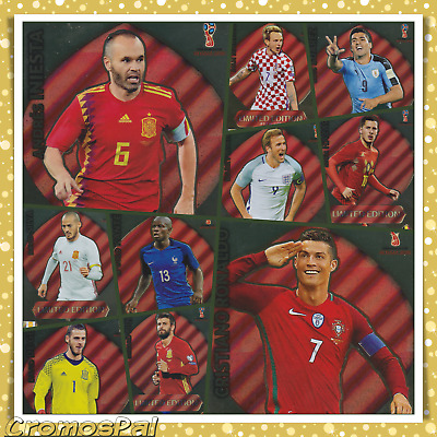 Adrenalyn Xl Russia 2018 - Fifa World Cup - Limited Edition And Very Rare Cards