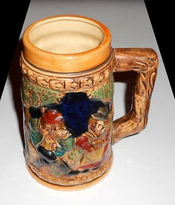 "Vintage Unbranded Ceramic Beer Stein Mug 5-5/8"" Height  Super Fast Shipping"