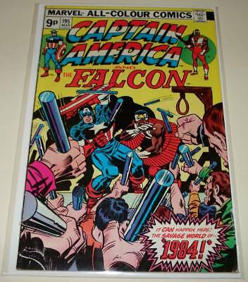CAPTAIN AMERICA # 195 Marvel Comic (March 1976)  VG    Jack Kirby Story/Art