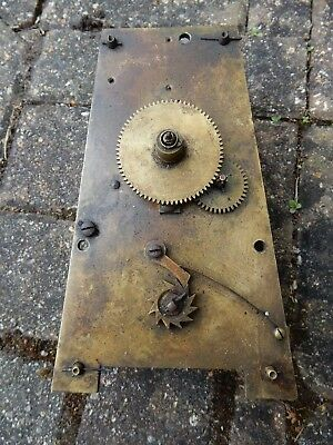 A Good Early 19th Century 'A' Plate Chain Fusee Clock Movement
