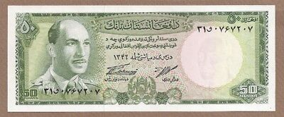 AFGHANISTAN: 50 Afghanis Banknote,(UNC),P-43a,1967,No Reserve!