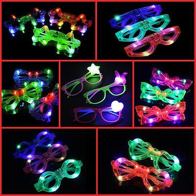LED GLASSES, GLOWING, PARTY, LIGHT UP,  AND CLUB GLASSES IN DIFFERENT SHAPES lot