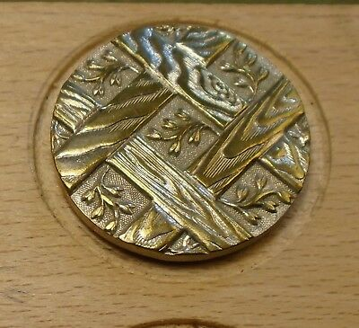 "NICE 1 1/16"" French Tight Top  Brass Antique Button 696:3"