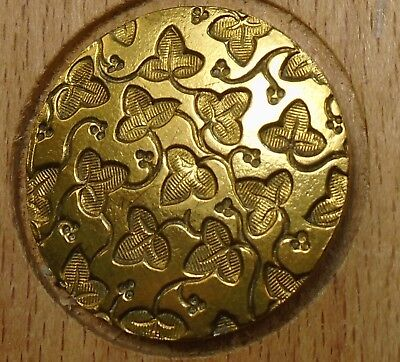 "NICE 1"" French Tight Top  Brass Antique Button 696:10"