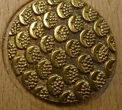 "NICE 1"" French Tight Top  Brass Antique Button 696:16"