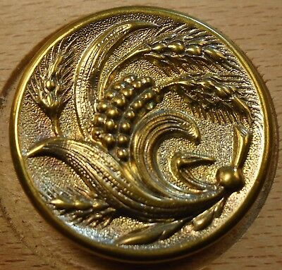 "NICE 1"" French Tight Top  Brass Antique Button 696:25"