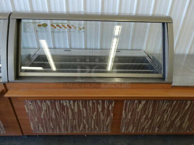 """60"""" SUBWAY STAINLESS STEEL SANDWICH SALAD PREP TABLE w/ Lowering Sneeze Guard"""