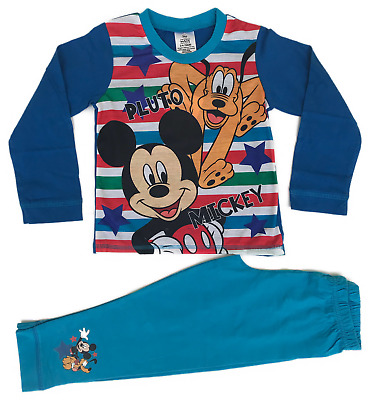 Official Mickey Mouse Pyjamas Pajamas Pjs Nightwear Boys Toddlers Kids Children