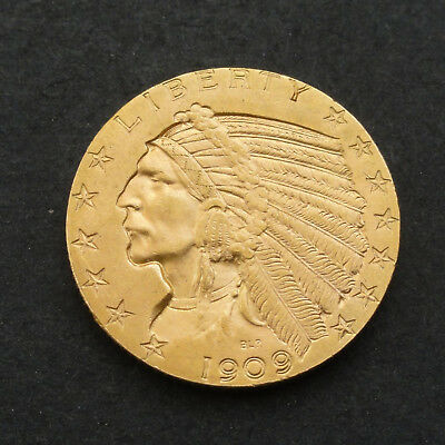 United States of Amerika 5 Dollars - 1909 liberty  -  Indian Head - Gold