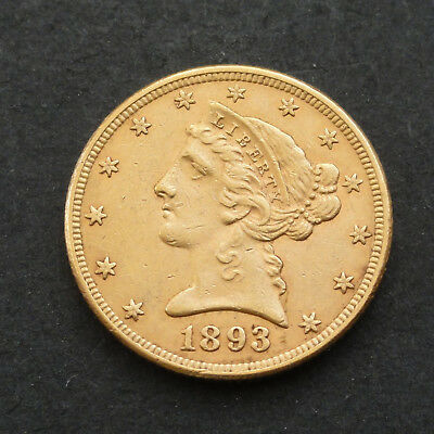 United States America - Five D 1893 - Gold