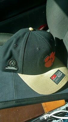9b711a93f79 Clemson Tigers Nike Official Locker Room 2016 NCAA National Champs Hat Black