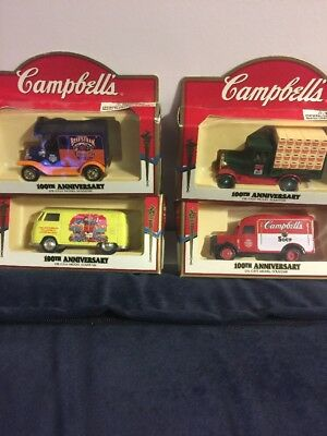 Campbells 100th Anniversary Die Cast Model Souveneirs Set Of 4
