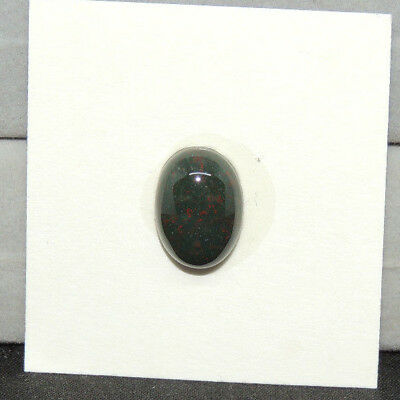 Bloodstone Cabochon 10x14mm with 5mm Dome from India  (13814)