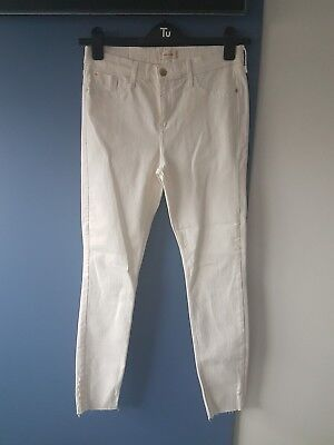RIVER ISLAND white high waisted skinny jeans size 12