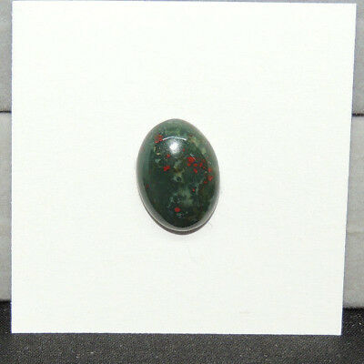 Bloodstone Cabochon 10x14mm with 5mm Dome from India  (13816)