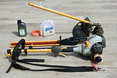 Ryobi 30cc strimmer, hedge trimmer, extension pole and accessories 99p start